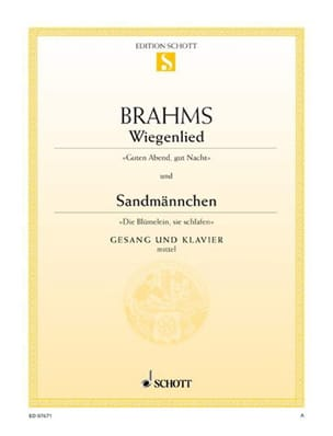 Wiegenlied, Opus 49-4 (Fa Majeur) ; Sandmännchen, Opus 49-1 (Sol Majeur) - laflutedepan.com