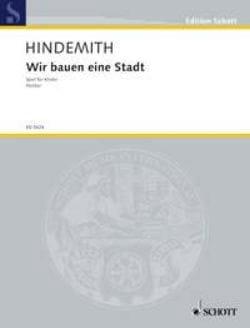 Wir Bauen Eine Stadt (1930) - Paul Hindemith - laflutedepan.com