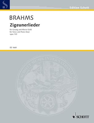BRAHMS - 8 Zigeunerlieder Opus 103. Serious Voice - Sheet Music - di-arezzo.co.uk