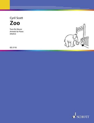 Zoo Cyril Scott Partition Piano - laflutedepan