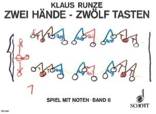 Klaus Runze - Zwei Hände zwölf Tasten, Bd 2 - Partition - di-arezzo.fr