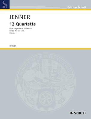 Zwölf Quartette, Bd 3 - Gustav Jenner - Partition - laflutedepan.com