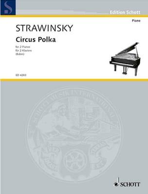Circus Polka. 2 Pianos Igor Stravinski Partition Piano - laflutedepan
