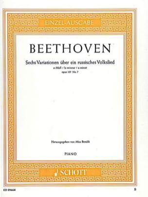 6 variations sur un thème populaire russe en la mineur Op. 107/7 - laflutedepan.com