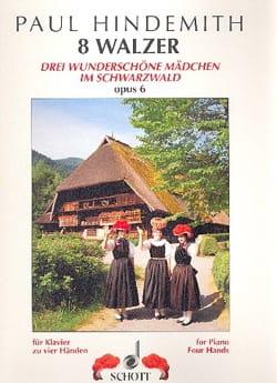 8 Valses Op. 6. 4 mains - Paul Hindemith - laflutedepan.com