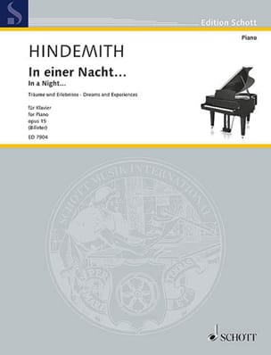 In Einer Nacht Opus 15 Paul Hindemith Partition Piano - laflutedepan
