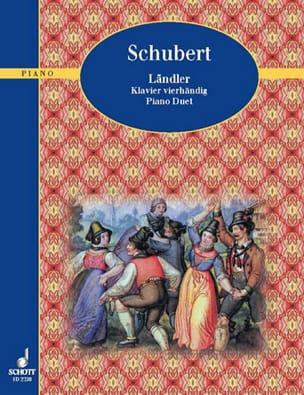 Ländler 4 Mains - Franz Schubert - Partition - laflutedepan.com