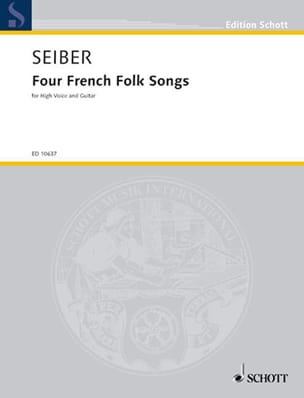4 French Folk Songs - Matyas Seiber - Partition - laflutedepan.com