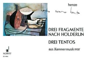 Hans Werner Henze - 3 Fragmente Nach Hölderlin / 3 Tientos - Partition - di-arezzo.fr
