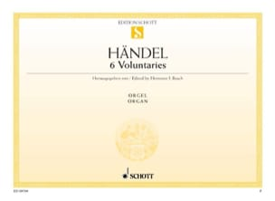 6 Voluntaries - HAENDEL - Partition - Orgue - laflutedepan.com