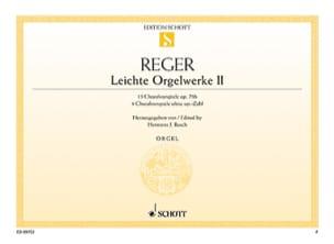Leichte Orgelwerke Volume 2 - Max Reger - Partition - laflutedepan.com