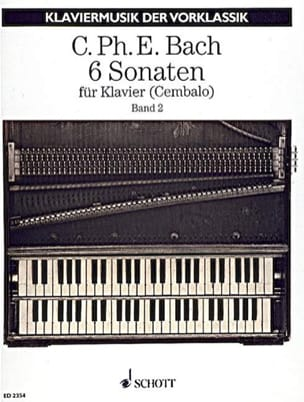6 Sonaten. Volume 2 Carl-Philipp Emanuel Bach Partition laflutedepan