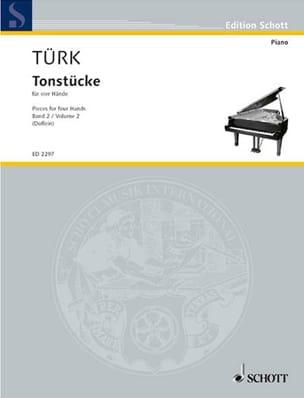 Daniel Gottlob Türk - Tonstücke Vol 2. 4 Mains - Partition - di-arezzo.fr