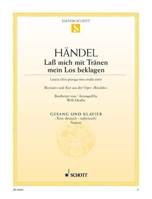HAENDEL - Lascia Ch'io Pianga Mia Cruda Sort. Rinaldo - Sheet Music - di-arezzo.co.uk
