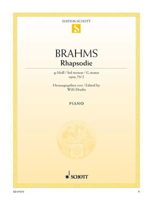 BRAHMS - Rhapsody Sol Minor Opus 79-2 - Partition - di-arezzo.es