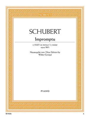 Impromptu Ut Mineur Op. 90-1 - Franz Schubert - laflutedepan.com
