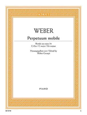 Carl Maria von Weber - Perpetuum Mobile Opus 24 - Partition - di-arezzo.co.uk