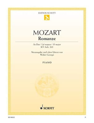 MOZART - Romance la bémol majeur Kv Anh. 205 - Partition - di-arezzo.fr