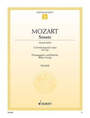 Sonate N° 15 Do Majeur K 545 - MOZART - Partition - laflutedepan.com