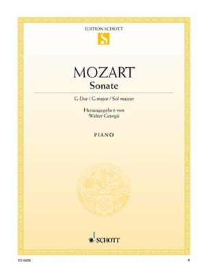 Sonate K 283 G-Dur - MOZART - Partition - Piano - laflutedepan.com