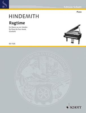 Ragtime (Wohltemperiert). 4 Mains - Paul Hindemith - laflutedepan.com