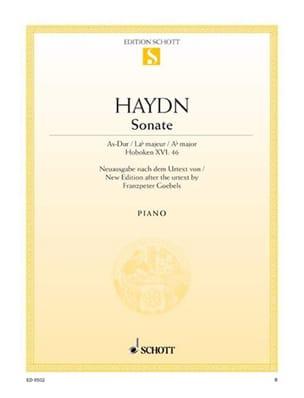 Sonate la Bémol Majeur Hob. 16-46 - Joseph Haydn - laflutedepan.com