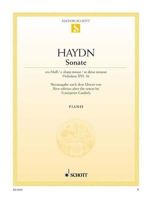 Sonate Do dièse Mineur (Hob. 16-36) - Joseph Haydn - laflutedepan.com