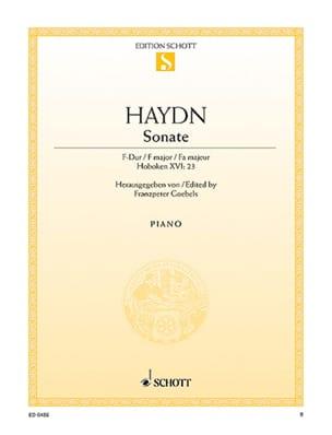 Sonate pour piano en Fa majeur Hob. 16-23 - laflutedepan.com