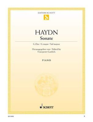 Sonate Sol Majeur Hob. 16-27 - Joseph Haydn - laflutedepan.com