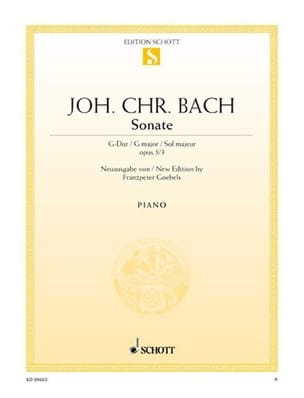 Sonate G-Dur, Op. 5-3 Johann Christian Bach Partition laflutedepan