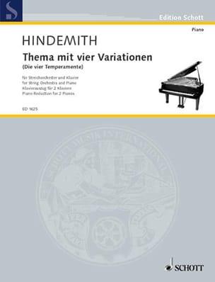 Thème Avec 4 Variations. 2 Pianos - Paul Hindemith - laflutedepan.com