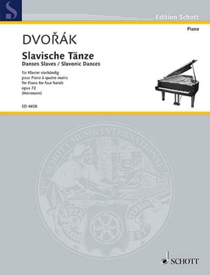 DVORAK - Slaves Dances 4 Hands Opus 72 Volume 1 - Sheet Music - di-arezzo.co.uk