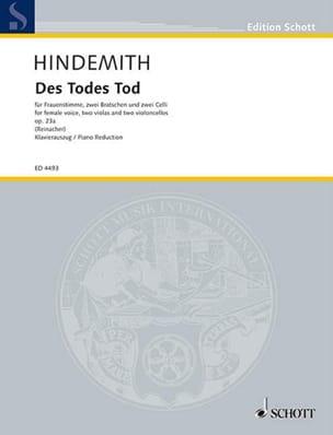 Des Todes Tod Op. 23a - Paul Hindemith - Partition - laflutedepan.com
