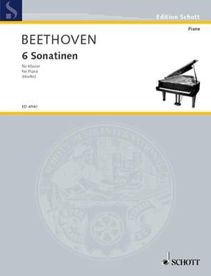 6 Sonatines BEETHOVEN Partition Piano - laflutedepan