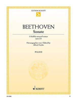 Sonate Pour Piano n° 1 Fa Mineur Opus 2-1 BEETHOVEN laflutedepan