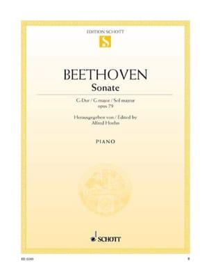 Sonate Pour Piano Sol Majeur Opus 79 - laflutedepan.com