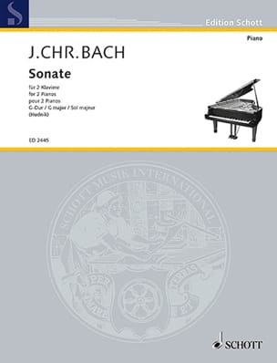 Sonate En Sol Majeur. 2 Pianos - laflutedepan.com
