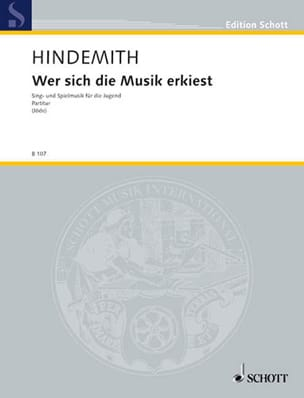 Wer sich die Musik erkiest - HINDEMITH - Partition - laflutedepan.com