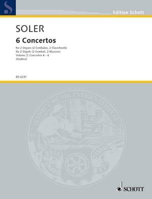 Antonio Soler - 6 Concertos A 2 Orgues Volume 2 - Partition - di-arezzo.fr