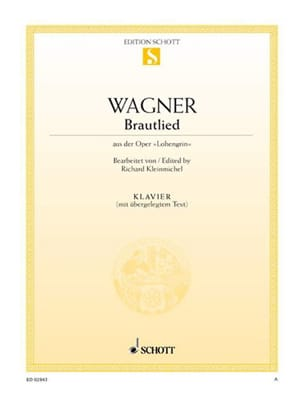 Brautlied. Piano WAGNER Partition Piano - laflutedepan