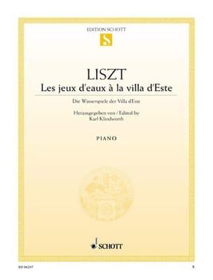 Les jeux d'eaux à la villa d'Este - Franz Liszt - laflutedepan.com