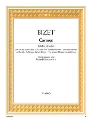 Carmen. Piano BIZET Partition Piano - laflutedepan