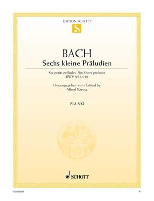 6 Kleine Präludien BWV 933-938 BACH Partition Piano - laflutedepan