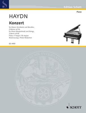 Concerto En Fa Majeur Hob 18-3 - Joseph Haydn - laflutedepan.com