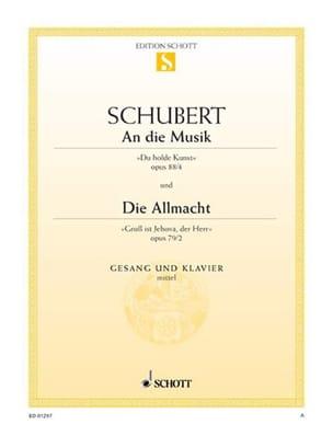 SCHUBERT - An Die Musik, Opus 88-4 / Die Allmacht, Opus 79-2 - Partition - di-arezzo.co.uk