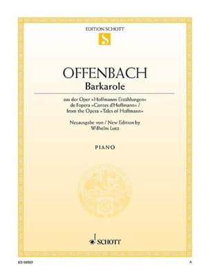 Barcarolle OFFENBACH Partition Piano - laflutedepan