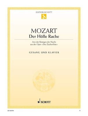MOZART - Der Hölle Rache. Zauberflöte. - Sheet Music - di-arezzo.co.uk