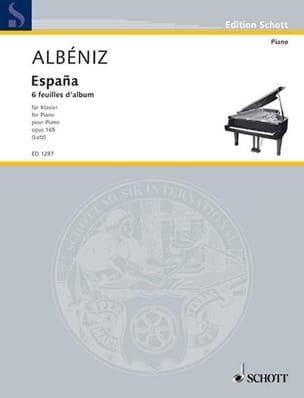 España Opus 165 - Isaac Albeniz - Partition - Piano - laflutedepan.com