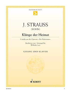 Johann fils Strauss - Klänge Der Heimat. Fledermaus - Partition - di-arezzo.fr