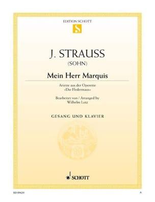Johann fils Strauss - Mein Herr Marquis. Fledermaus - Partition - di-arezzo.fr